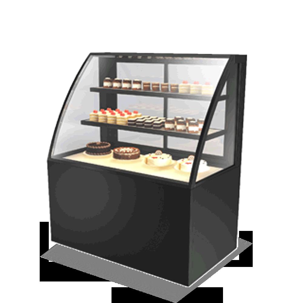 Curved Cake Display Showcase CAKE-U-1200-HG-C