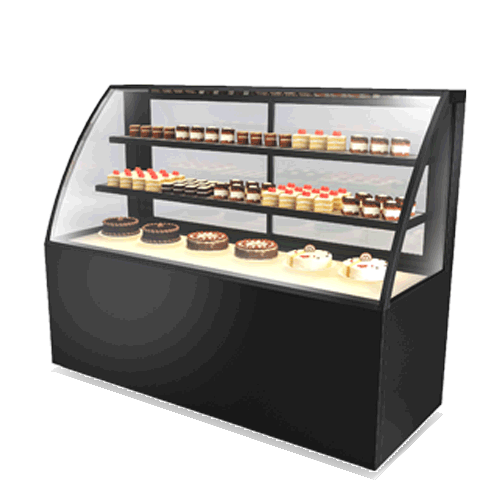 Curved Cake Display Showcase CAKE-U-1800-HG-C