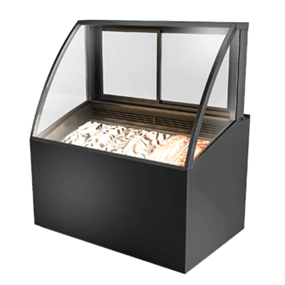 Curved Ice-cream Display Showcase IC-U-1200-HG-C