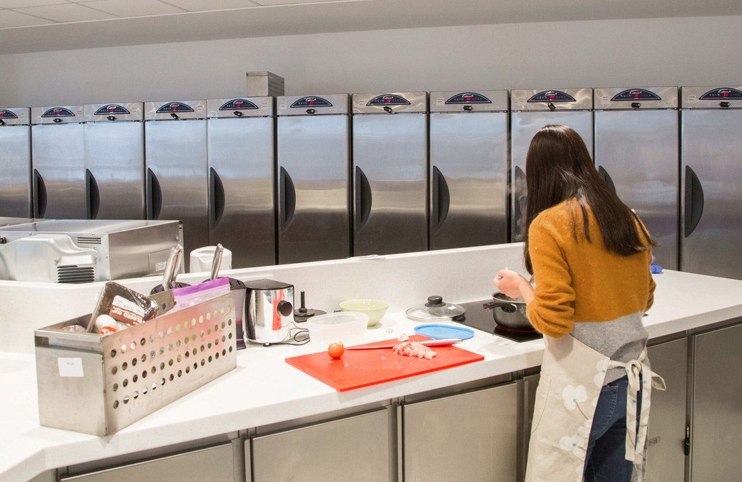 Interior Shot of Edinburgh Universities student kitchen