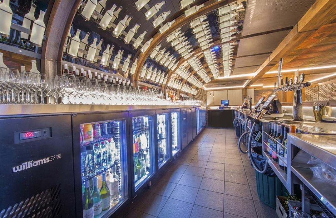 Blue Room Cinebar bar area, in Queensland, Australia