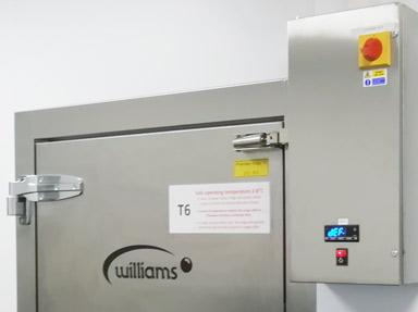 Williams Pharmaceutical Coldrooms.